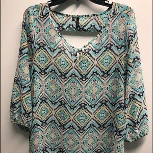 3 for $12 Ladies Maurice's Med Printed Tunic
